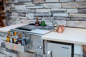 Custom Outdoor Bar and Kitchen in Rehoboth Beach, Delaware.