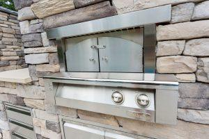 Outdoor Pizza oven and kitchen in Rehoboth Beach, Delaware