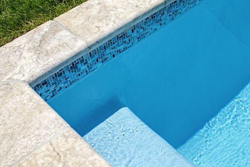 Bella Blue Pool Color with Blue NPT Tile